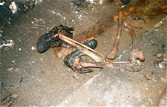Posmrtni ostanki v rovu Barbara